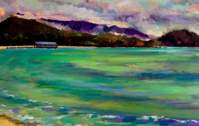 Hanalei Bay. 24x36 Oil.