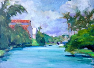 Hilo Harbor 16 x 20 Oil
